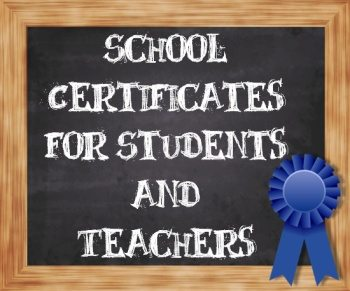 school certificates and awards
