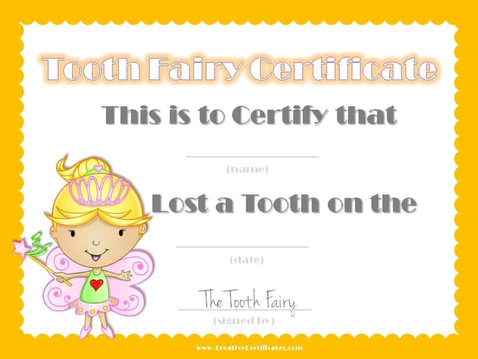 tooth fairy letters free tooth certificate customize instant 25303 | tooth fairy certificate 11
