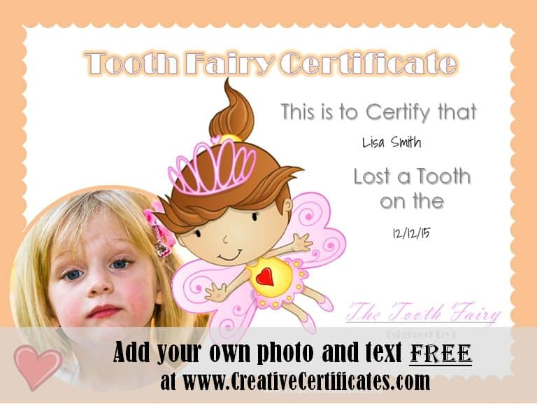 Free tooth fairy certificate tooth fairy certificate yelopaper Choice Image
