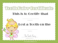 note from the tooth fairy