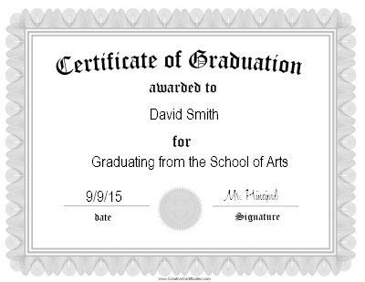 Free graduation certificate templates customize online certificate of graduation certificate template yadclub Choice Image