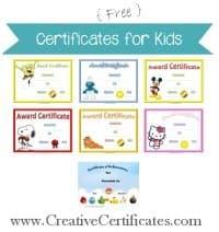 Children's Certificates