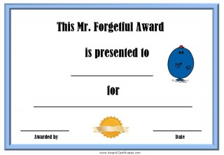 Award for forgetfulness