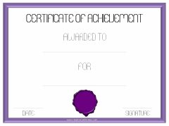 achievement template certificate