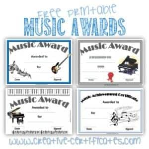 Music certificate template free and customizable a selection of free printable music certificate template awards the details of each certificate can be typed before you print it but the titles cannot be yelopaper Images