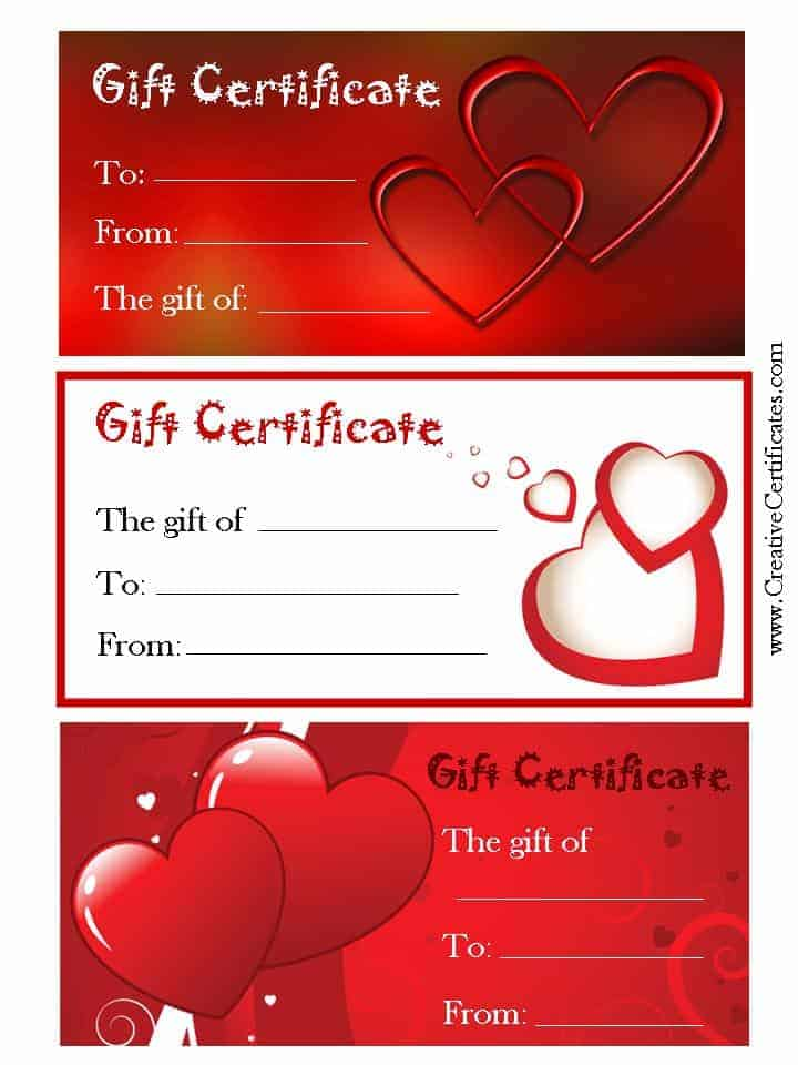 valentine gift certificate template free gift ftempo. Black Bedroom Furniture Sets. Home Design Ideas