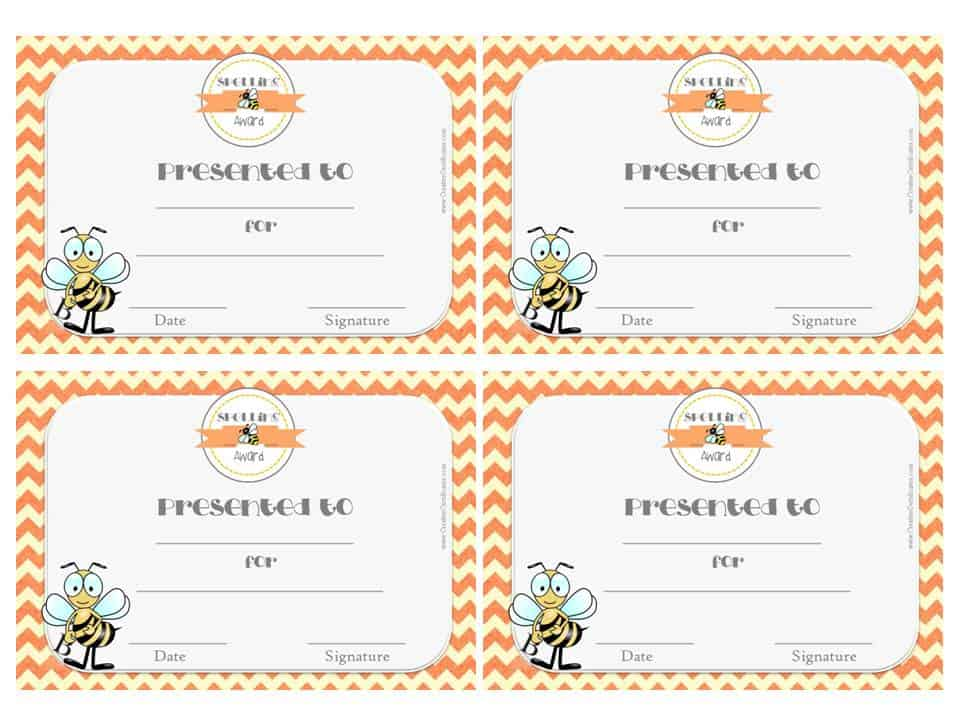 Certificate Template For Spelling Bee Image Collections