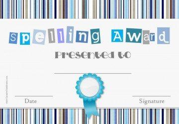 spell certificate