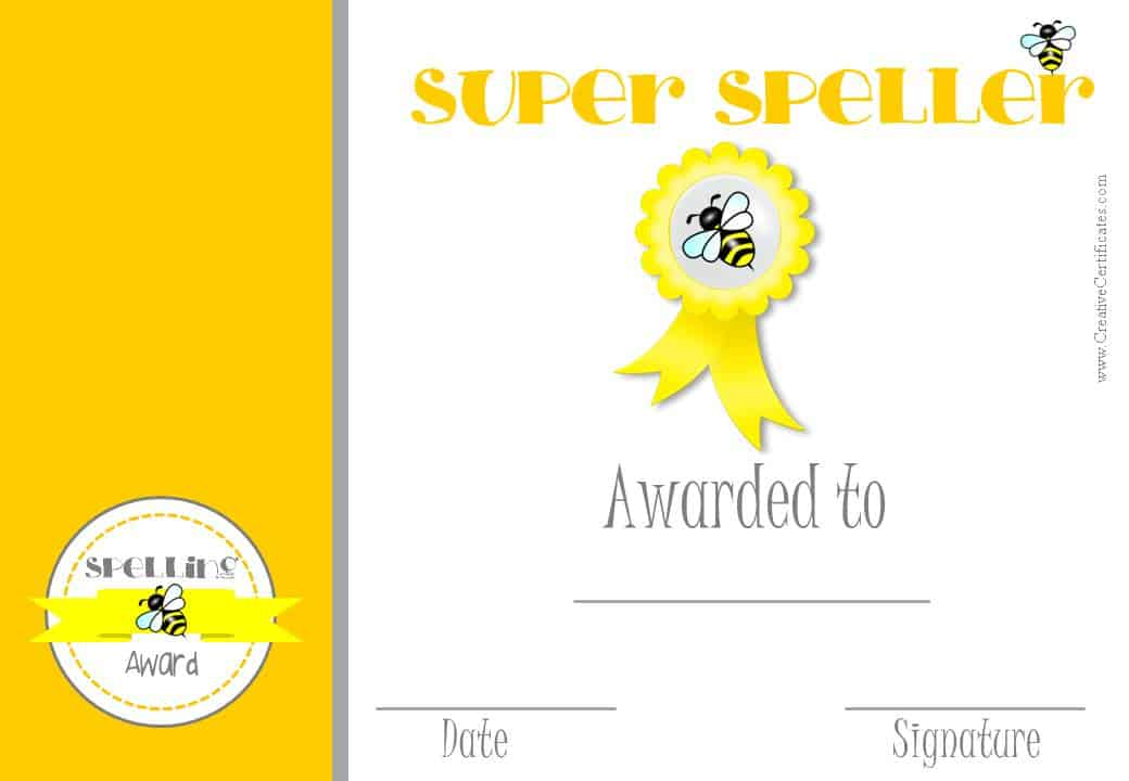 first prize winner certificate template - free spelling bee certificate templates customize online