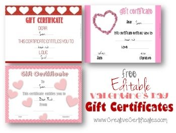 Valentine's Day Gift Certificates