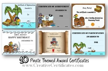 Pirate certificates yadclub Images