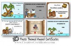 pirate certificates
