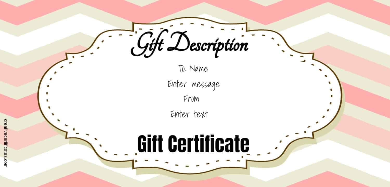 Free Gift Certificate Template 50 Designs Customize Online And