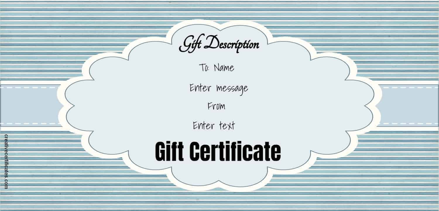 Free Gift Certificate Template 50 Designs Customize