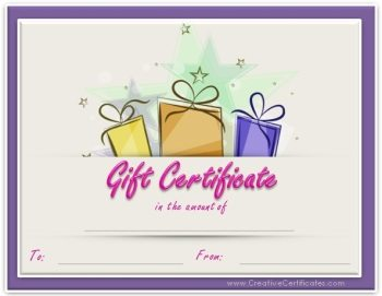 Birthday Gift Certificate Template  Gift Vouchers Templates