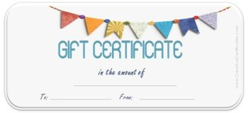 Gift Certificate Template With Colored Flag With White Background. Certificate  Maker  Gift Certificate Maker Free