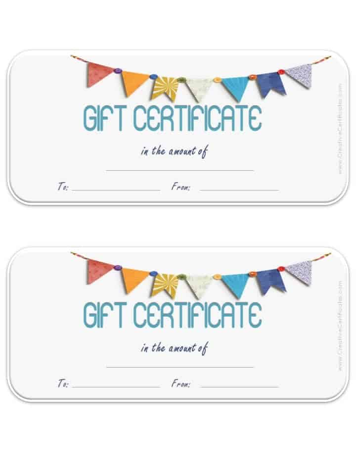 Blank Gift Certificate Template  Print Your Own Voucher