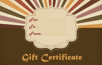 vintage style gift certificate template