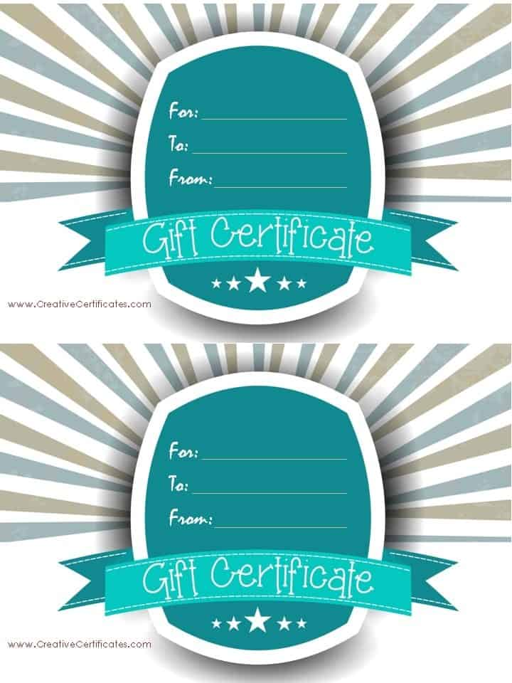 guitar lessons gift certificate template