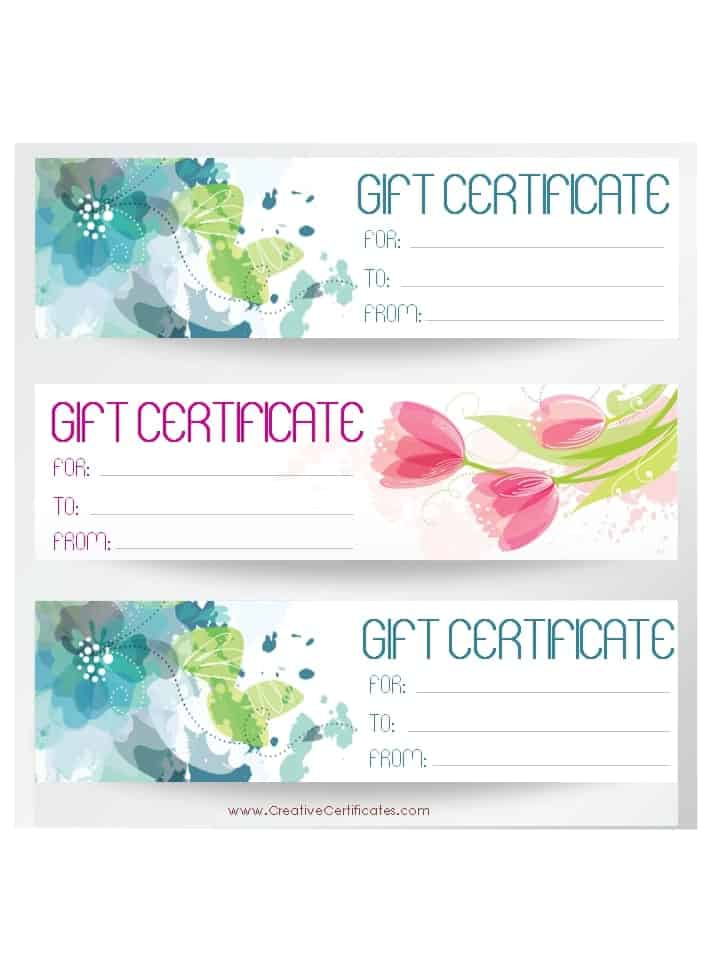 Free Gift Certificate Template customizable – Gift Coupon Template