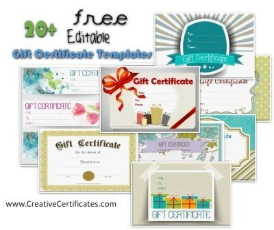 free customizable gift certificate template - free printable and customizable certificate templates