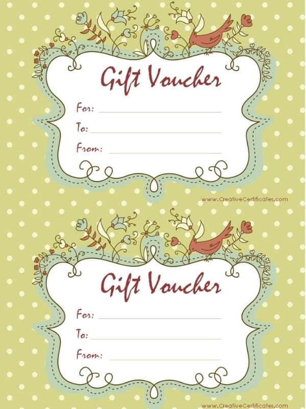 Free Printable Gift Voucher Templates  Free Printable Vouchers Templates