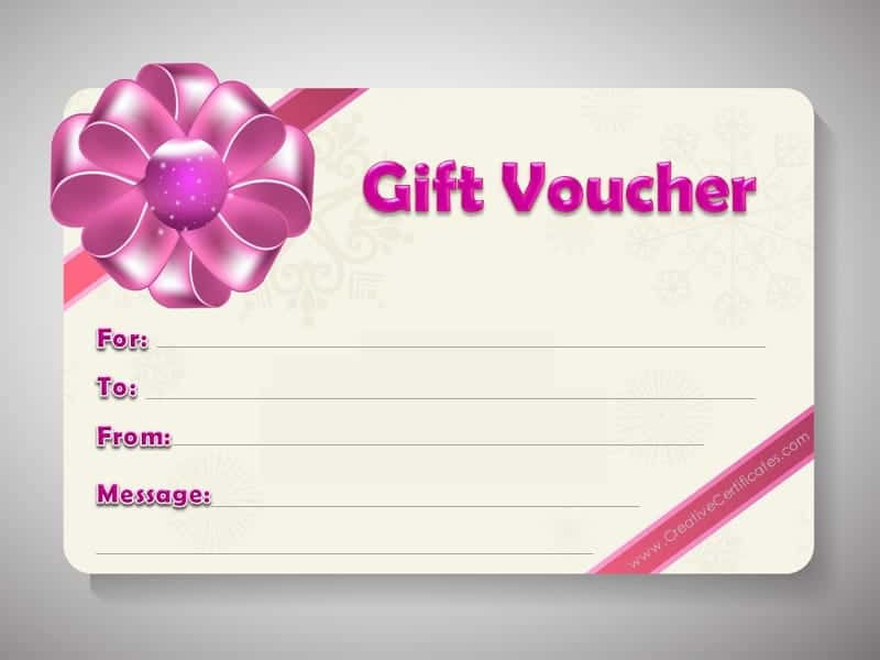 Gift Voucher Template – Template for a Voucher