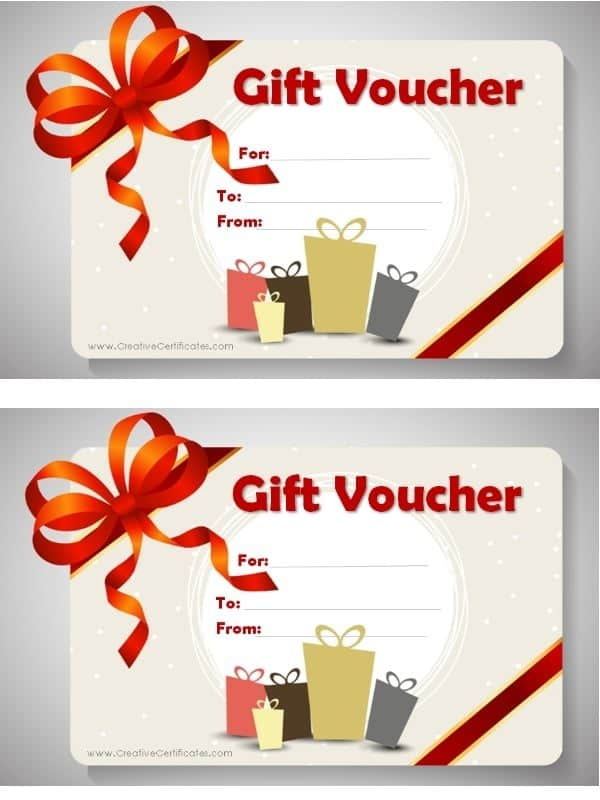 Free Printable Gift Voucher Template  Free Printable Vouchers Templates