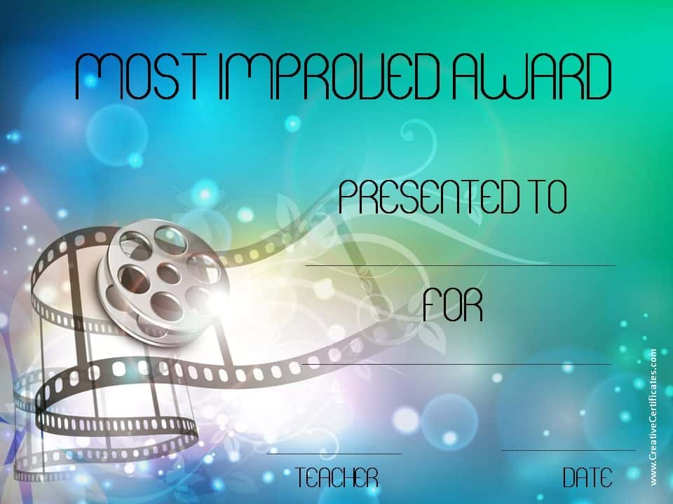 best solutions of most improved award certificate for your most