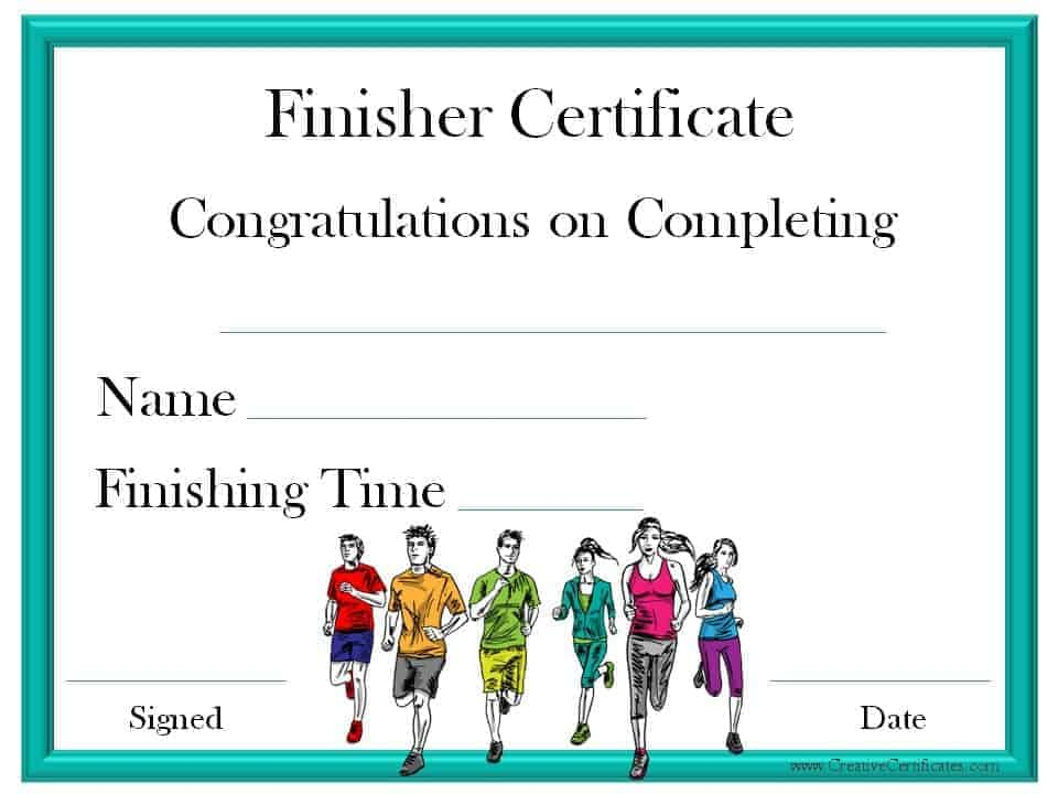 Running certificate templates free customizable for Running certificates templates free