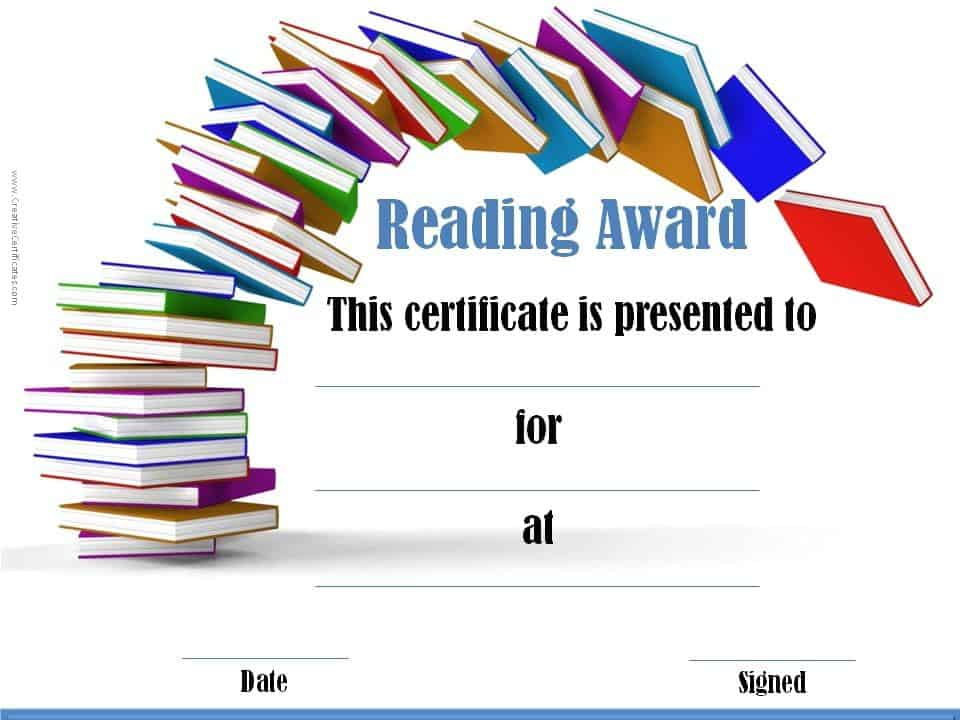 free editable reading certificate templates