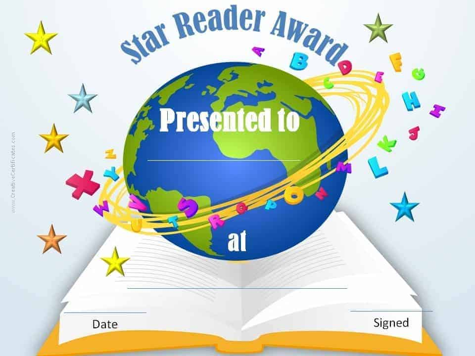 photo relating to Free Printable Reading Certificates named Free of charge Editable Reading through Certification Templates - Prompt Obtain