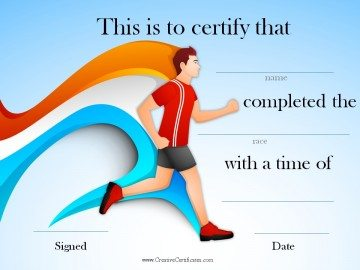 running certificate
