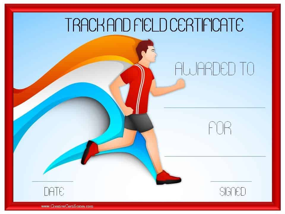 Track and field certificate templates free customizable track and field certificate yadclub Images