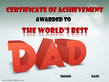 The world's best dad