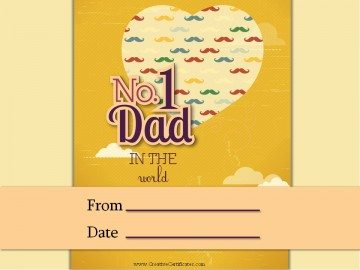 No 1 Dad Award Certificate