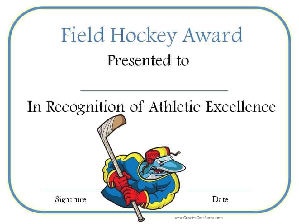 Free printable hockey awards yadclub Images