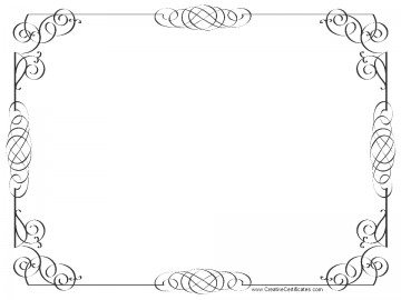 Certificate Borders on award black and white