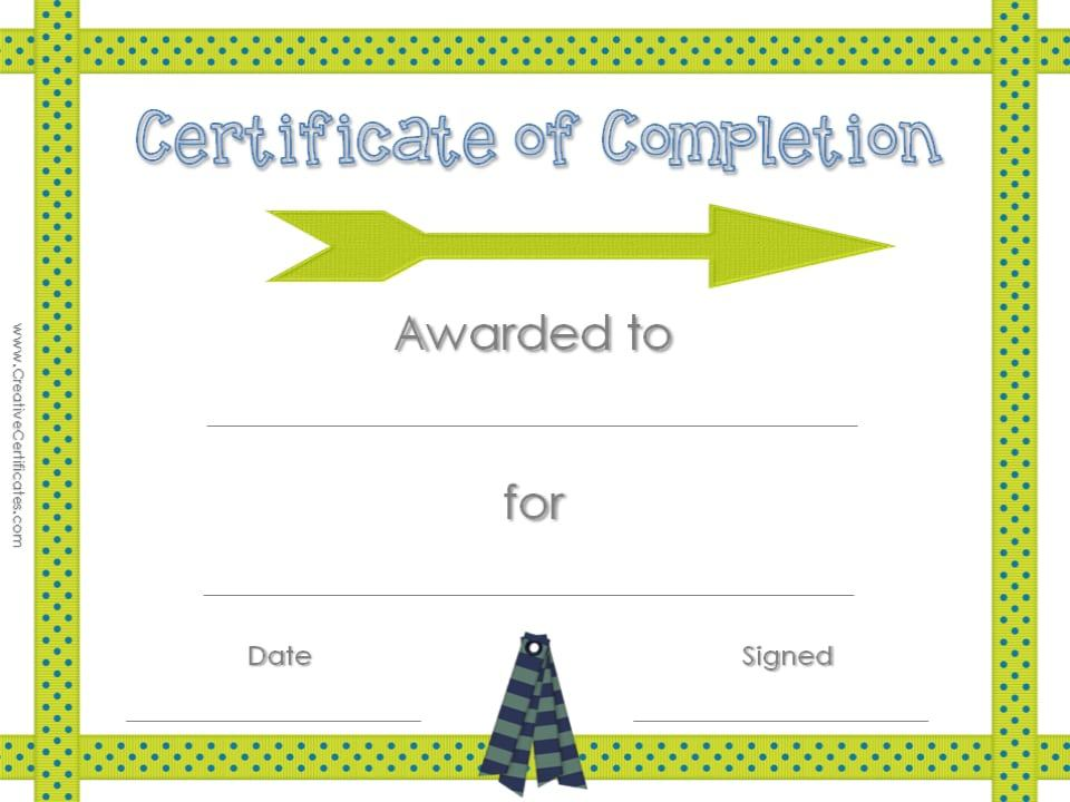 Certificates Of Completion Template  ContegriCom