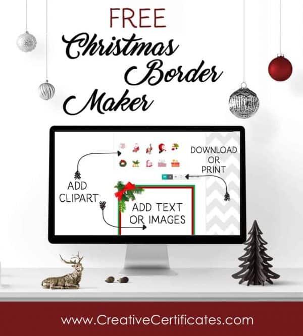 christmas border maker