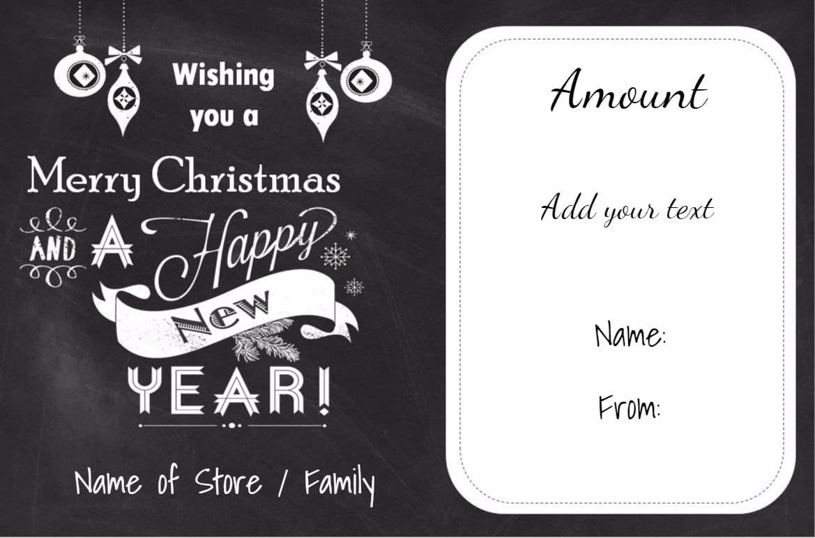 Free christmas gift certificate template customize online download chalkboard christmas printable alramifo Choice Image