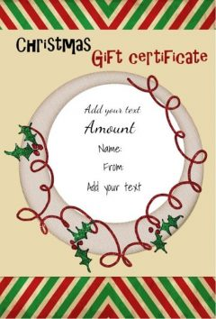 Free printable and customizable award templates christmas gift certificate template yadclub Choice Image