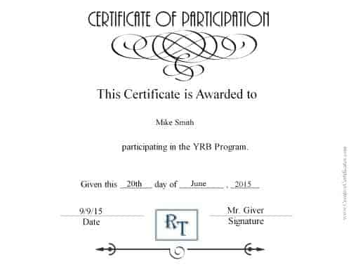 Printable award in black and white with a comapny logo