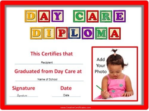 Preschool certificates day care day care diploma yelopaper Choice Image