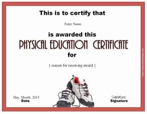 physical education awards