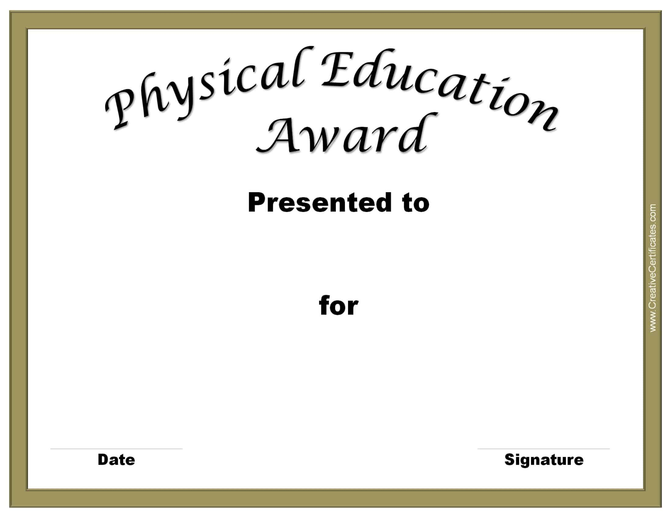 Badminton certificate template choice image templates example sport certificate templates for word template for shopping list physical education awards and certificates free physical xflitez Choice Image
