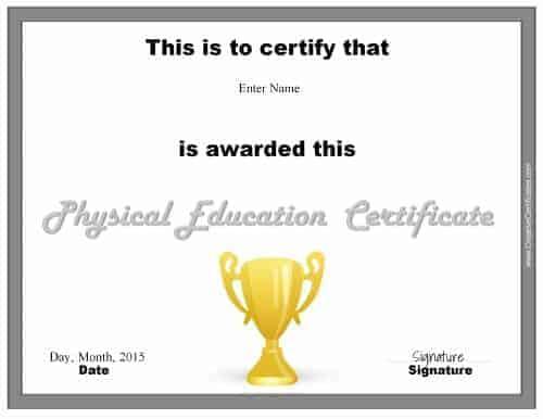 pe certificate