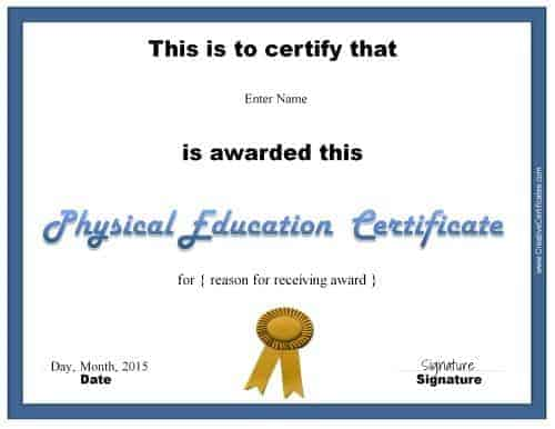 Certificate templates for physical education choice image physical education award certificate templates choice image physical education award certificate templates image collections physical education yelopaper Gallery