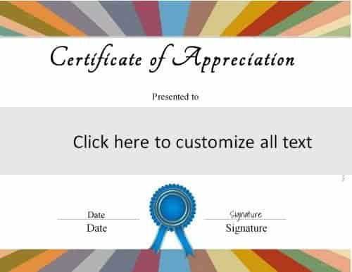 colorful template to create a certificate for any purpose