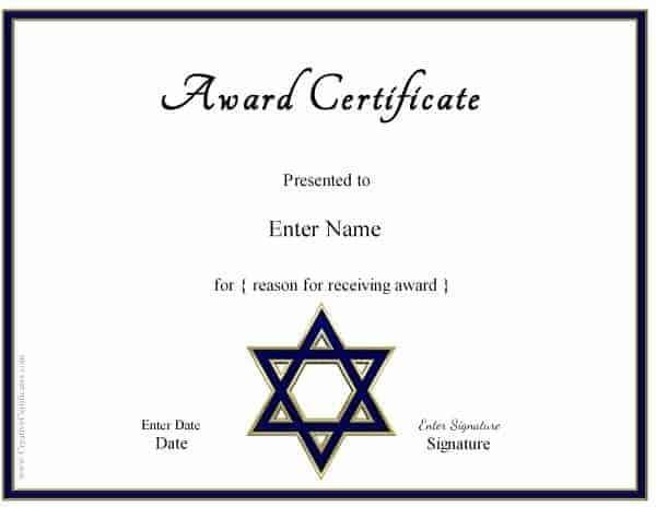 Star of David Award